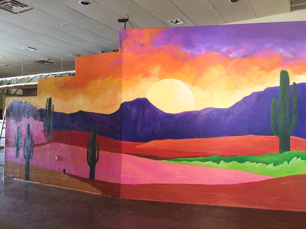 Business interior mural tucson mural for Commercial mural
